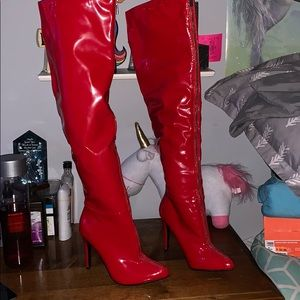 Barely worn Sexy Red boots!